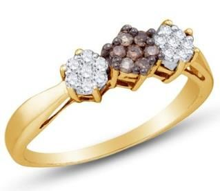 https://ariani-shop.com/10k-yellow-and-white-two-2-tone-gold-invisible-channel-set-round-brilliant-cut-chocolate-brown-and-white-diamond-engagement-ring-or-fashion-band--flower-shape-center-setting--1-4-cttw 10K Yellow and White Two 2 Tone Gold Invisible & Channel Set Round Brilliant Cut Chocolate Brown and White Diamond Engagement Ring OR Fashion Band - Flower Shape Center Setting - (1/4 cttw.)