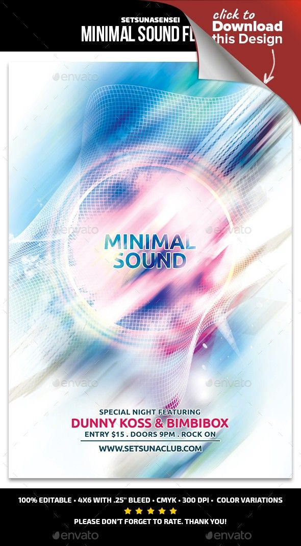 Minimal sound flyer aabstract flyer abstract abstract dance abstract electro abstract flyer colorphonic malvernweather Image collections