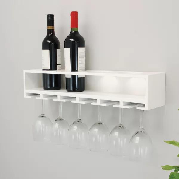 Ebern Designs Siera Wall Mounted Wine Bottle Rack Wayfair Wine