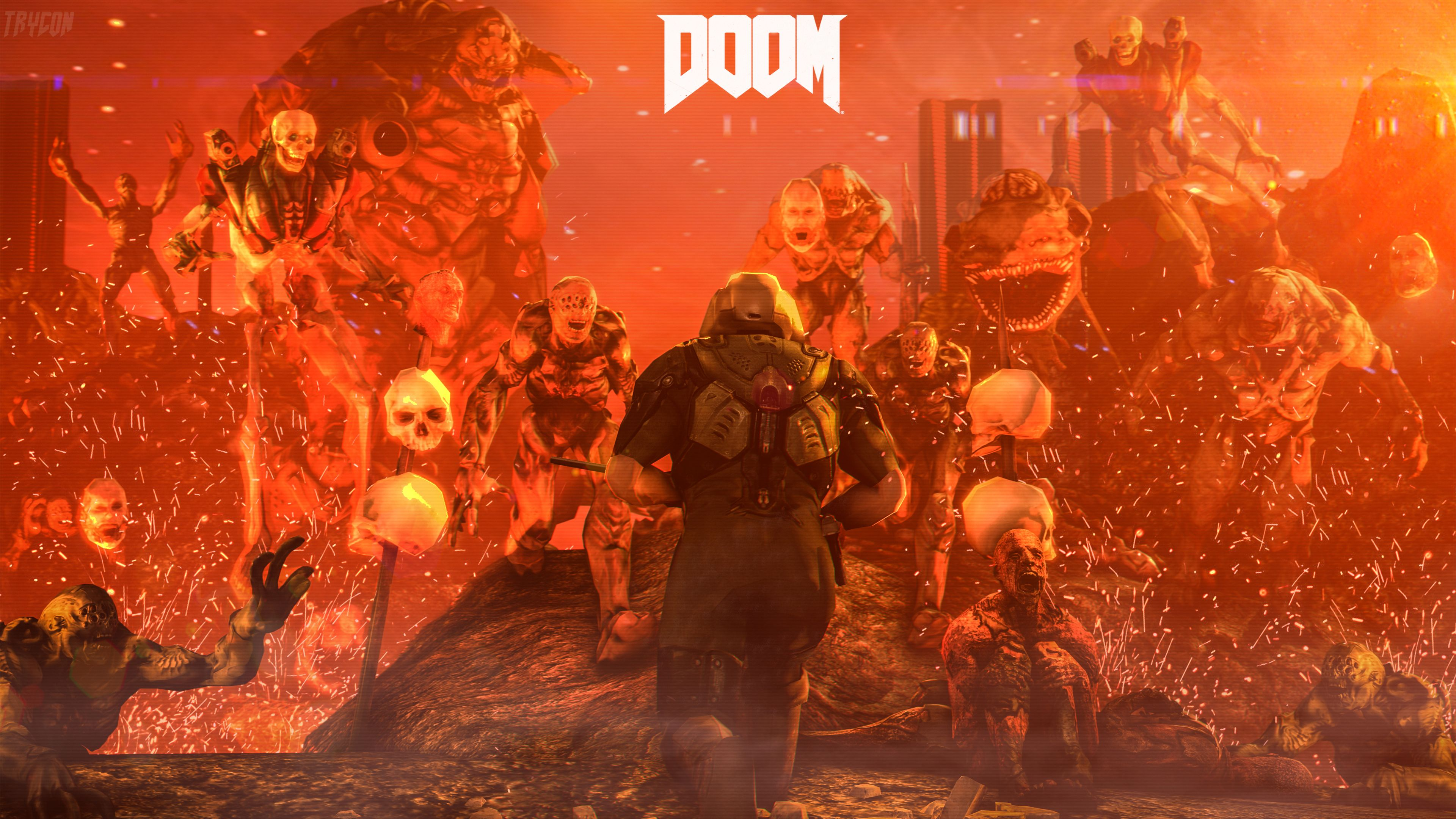 Wallpaper 4k Doom 4 Digital Art Doom 4 Wallpapers Doom Wallpapers