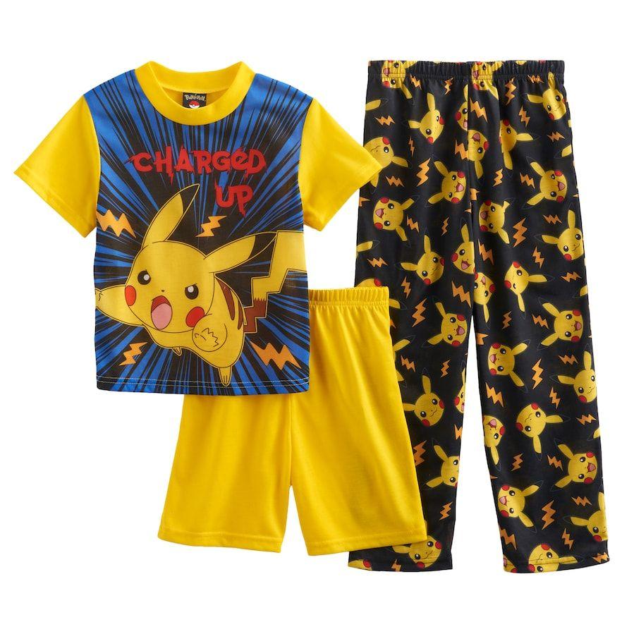 5331881bc5 Boys 6-12 Pokemon 3-Piece Pajama Set   Products   Pajama set ...