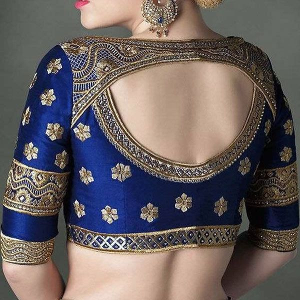 30 Latest Blouse Back Neck Designs In 2019 Blue Blouse Designs Blouse Designs Indian Trendy Blouse Designs