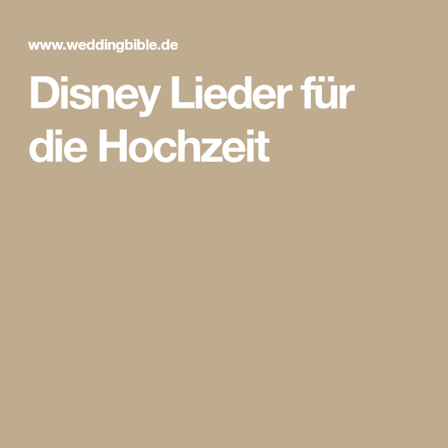 Liebeslieder Disney