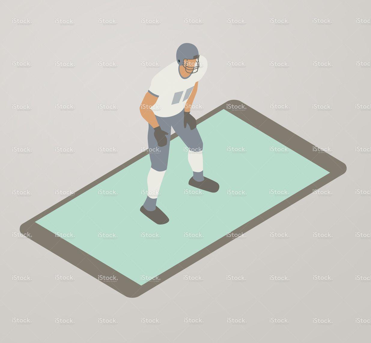 Football App Illustration stock vector art 82486641 - iStock
