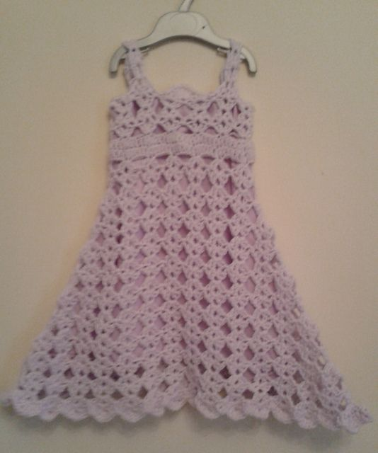 Ravelry Free Diamond Pattern Toddler Dress Crochet Pattern