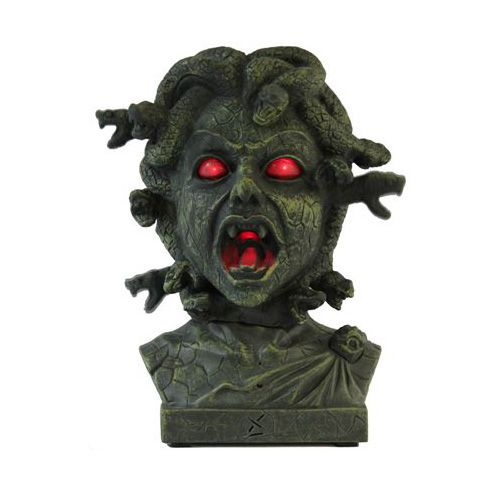 Animated Medusa Bust from Walgreens Halloween - My Props  Goodies - halloween statues