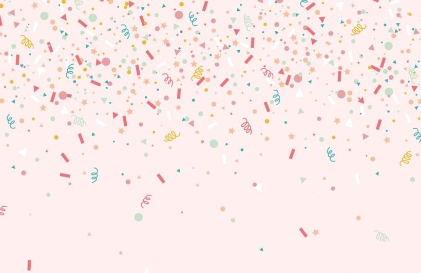 Colourful Confetti Party Sprinkles Wallpaper Mural Confetti Wallpaper Birthday Wallpaper Confetti Background