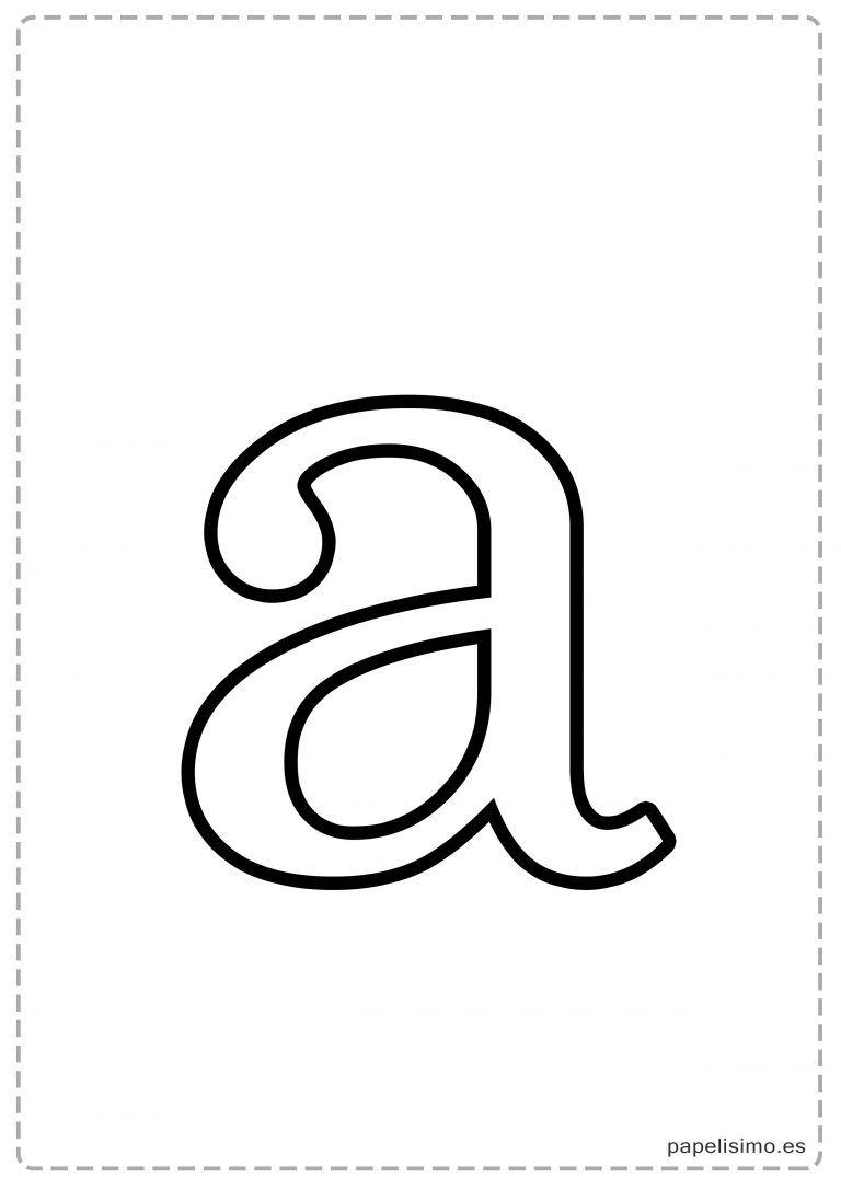 A Abecedario Letras Grandes Imprimir Minusculas Moldes De Letras Letra A Letras Decoração