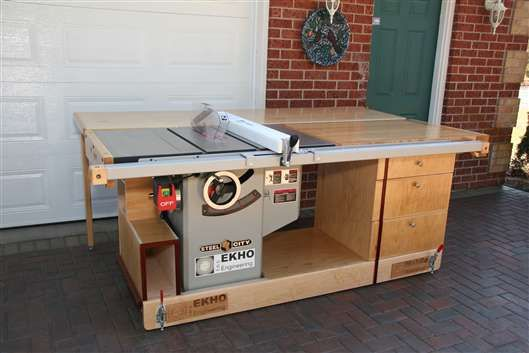 EKHO Mobile Table Saw And Router Workshop