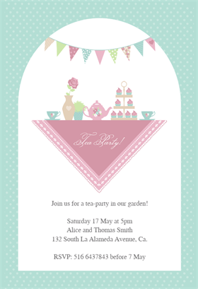 Garden Tea Party Free Printable Dinner Party Invitation Template