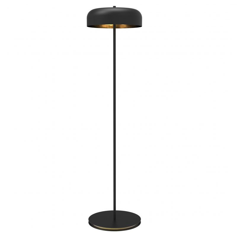 Black Floor Lamp With Satin Brass Interior Floor Lamp