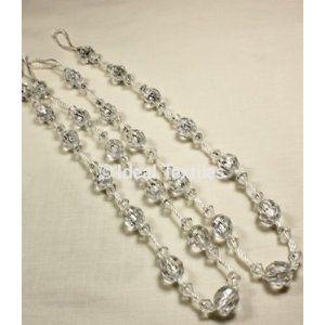 Crystal Beaded Tie Backs Curtain Bead Tiebacks Twinkle