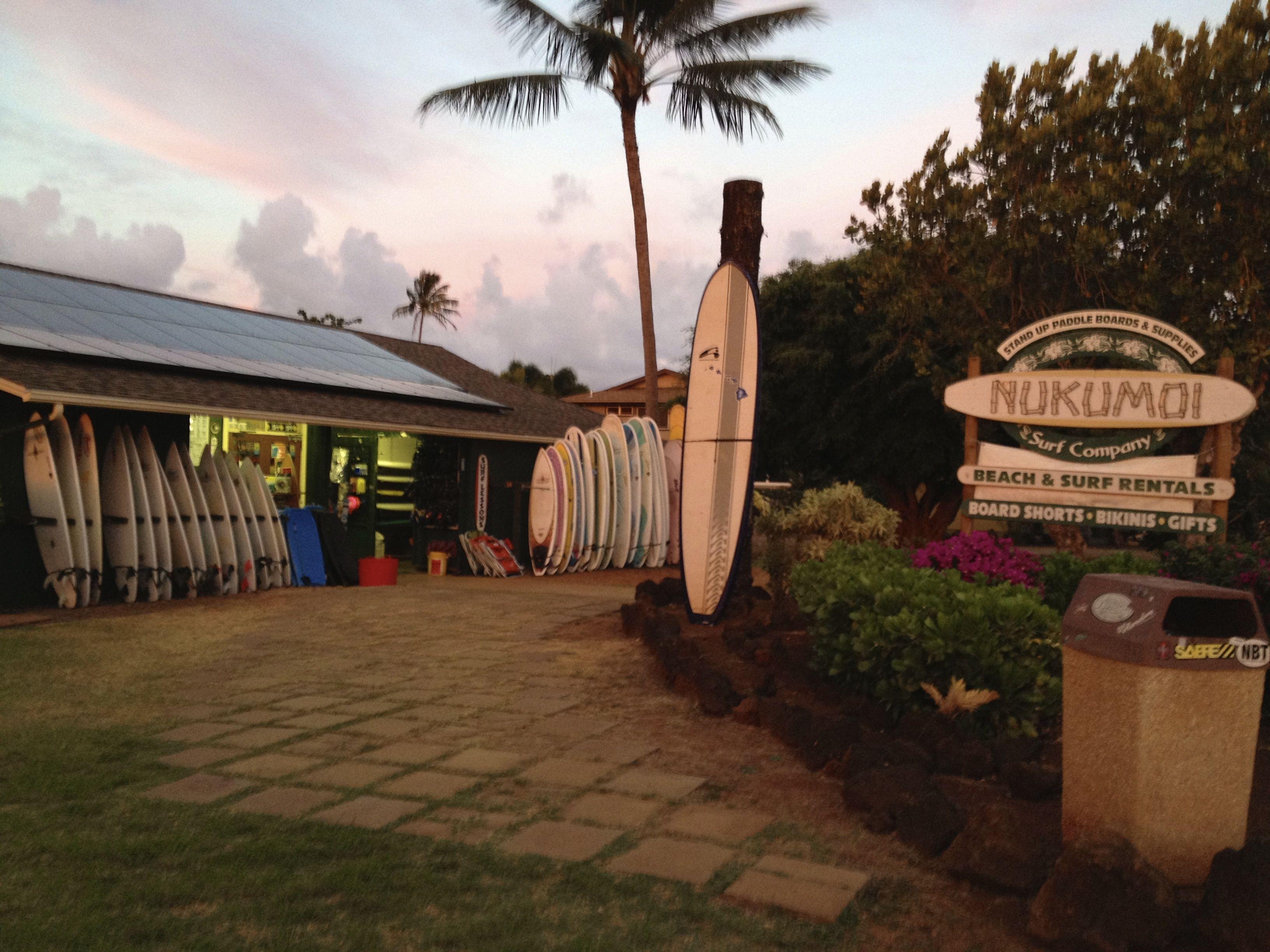 Nukumoi Surf Co Store Front 2100 Hoone Rd Koloa Poipu Hi 96756 Poipu Poipu Beach Kauai