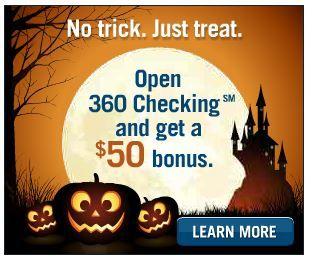 Open a FREE 360 Checking account, get a FREE $50 bonus!