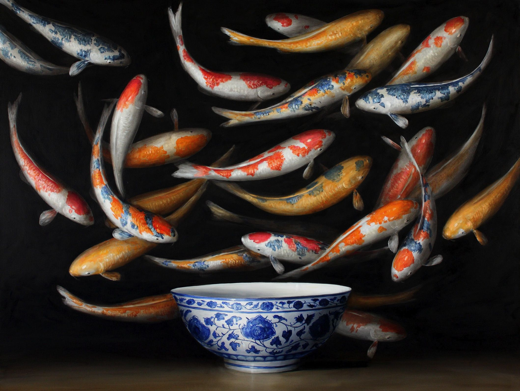 Koi (Blue Vase) | Still but Lively | Pinterest | Koi, Paintings ...