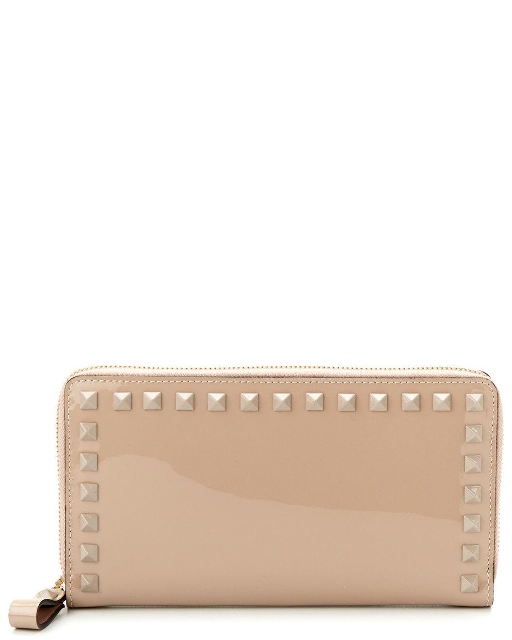Spotted this Valentino Rockstud Patent Zip-Around Wallet on Rue La La. Shop (quickly!).