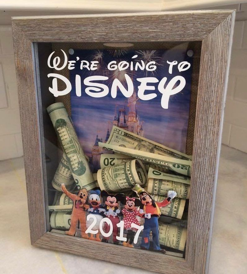 Brandi has the cutest way to save up for a Disney trip! (There should be a Mickey  mouse emoji!!!) #ilovedisney