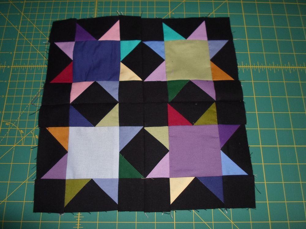 Amish 4 star quilt blocks