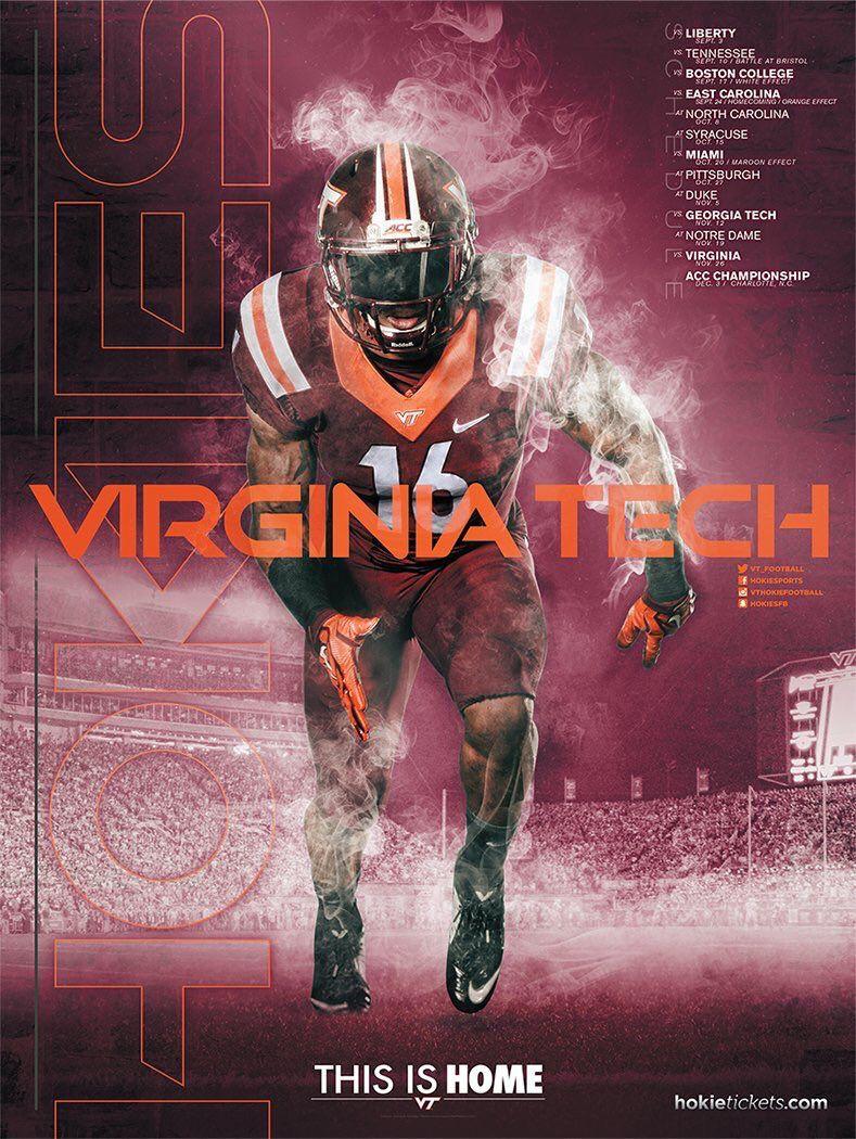Virginia Tech Football poster, American football