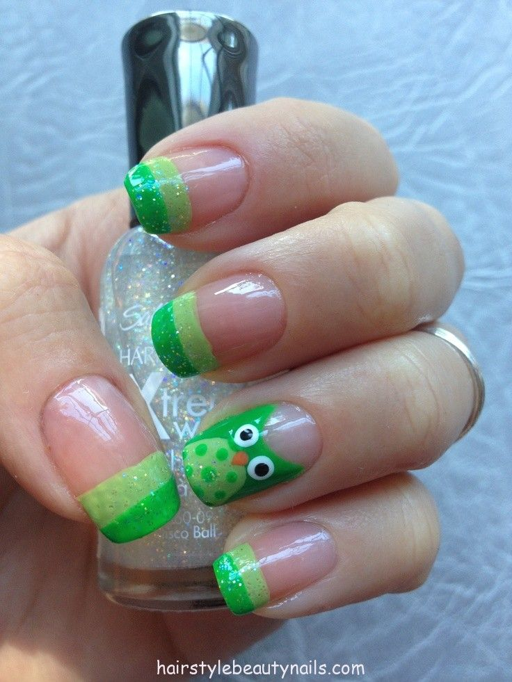 owl nails design art picture image photo beauty (1) http://www.hairstylebeautynails.com/nails-designs/owl-nails-art/