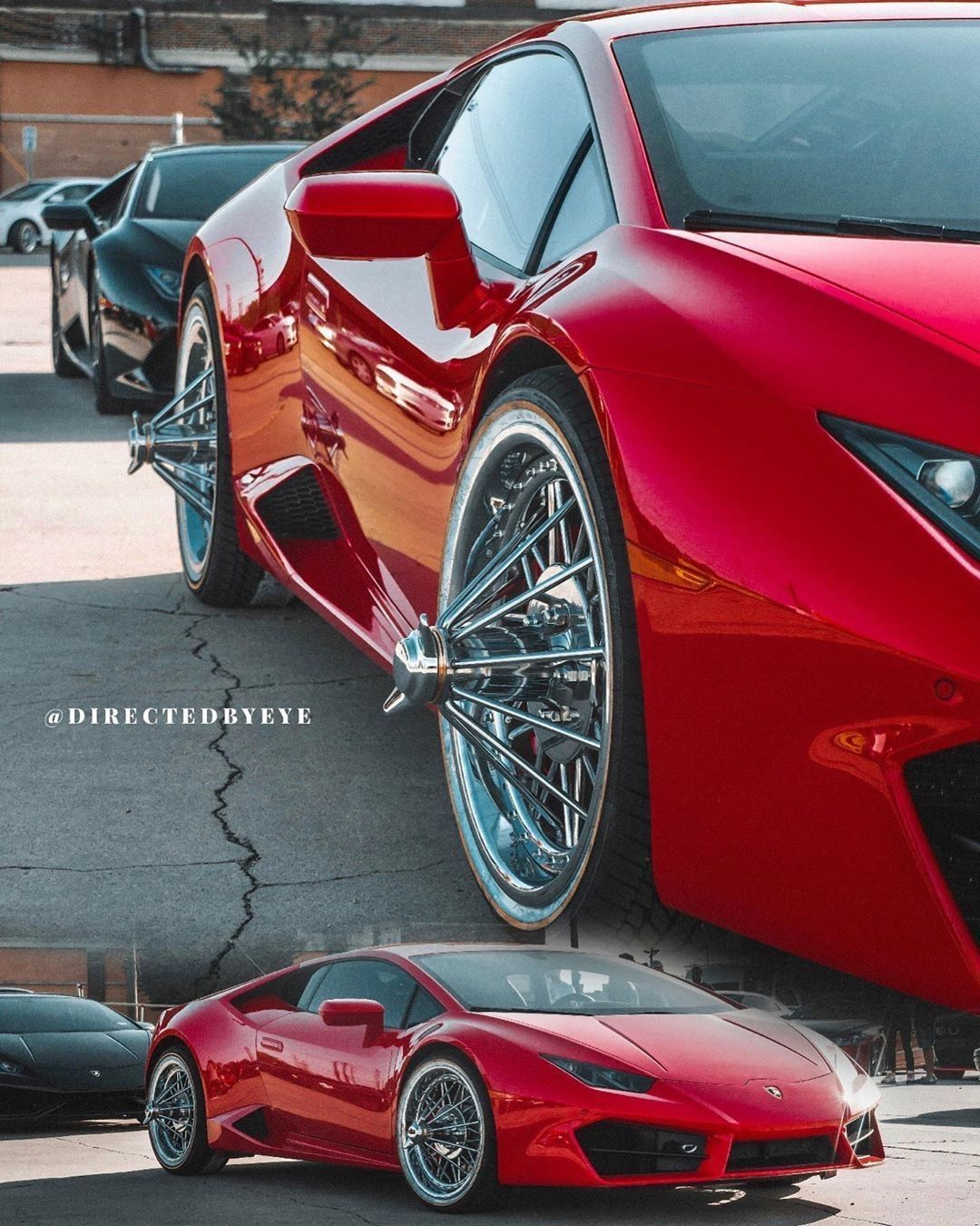 Only In Texas Lambo On Texan Wire Wheels And Vogue Tyres Swangas Lamborghini Voguetyre Lambo Custom Cars Wire Wheel