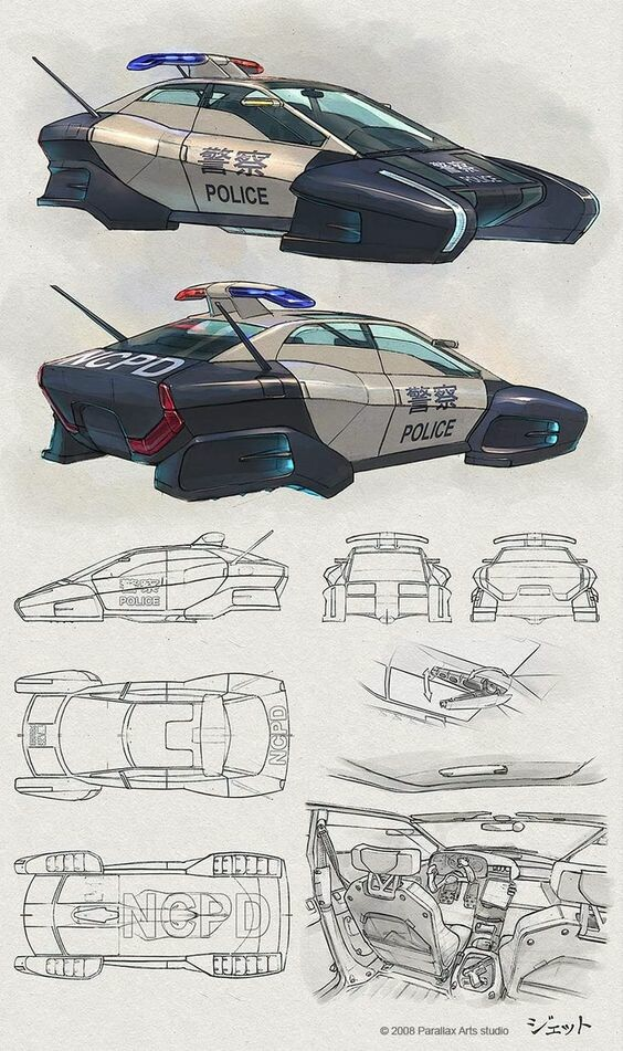 3D car scifi, Jason Hill