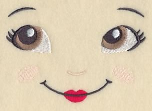 Machine Embroidery Designs at Embroidery Library! - Doll Faces #dollfacepainting