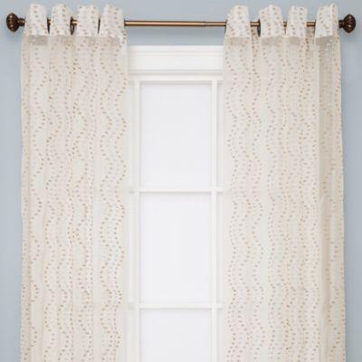 Buy Sloane Sheer Grommet Window Curtain Panels In Ivory