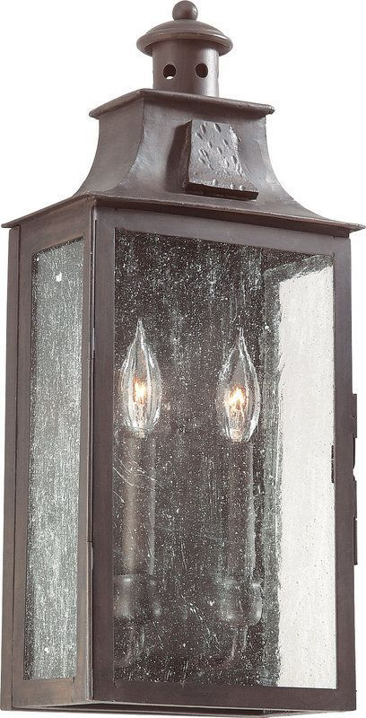 View The Troy Lighting Bcd9008 Newton 2 Light 20 Outdoor Wall Sconce With Seedy Gl At Lightingdirect