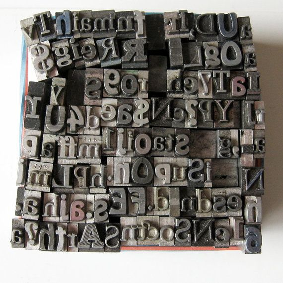 cool antique letterpress letters and numbers