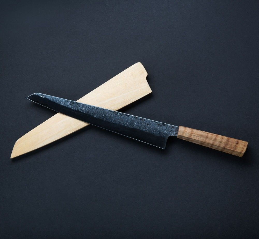 Custom Made Kitchen Knives: Oak Gyuto 290mm Custom Chef Knife By Bryan Raquin