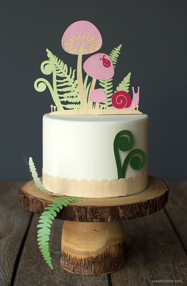 Papercut Woodland Cake Toppers Diy Topper Cupcake Fairy Baby Showers