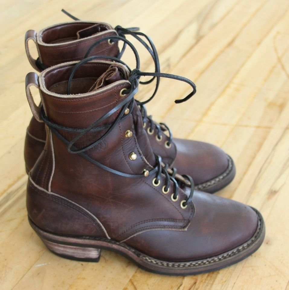 White S Boots 8 Brown Farmer Rancher Sz 8d Msrp 472 Smokejumper Wesco Nick S Weisse Stiefel Stiefel Mode Stiefel [ 961 x 957 Pixel ]