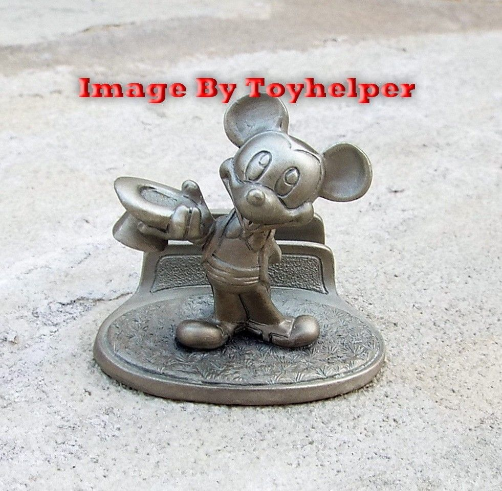 Disney Mickey Mouse Tuxedo Top Hat Business Card Holder Figurine ...
