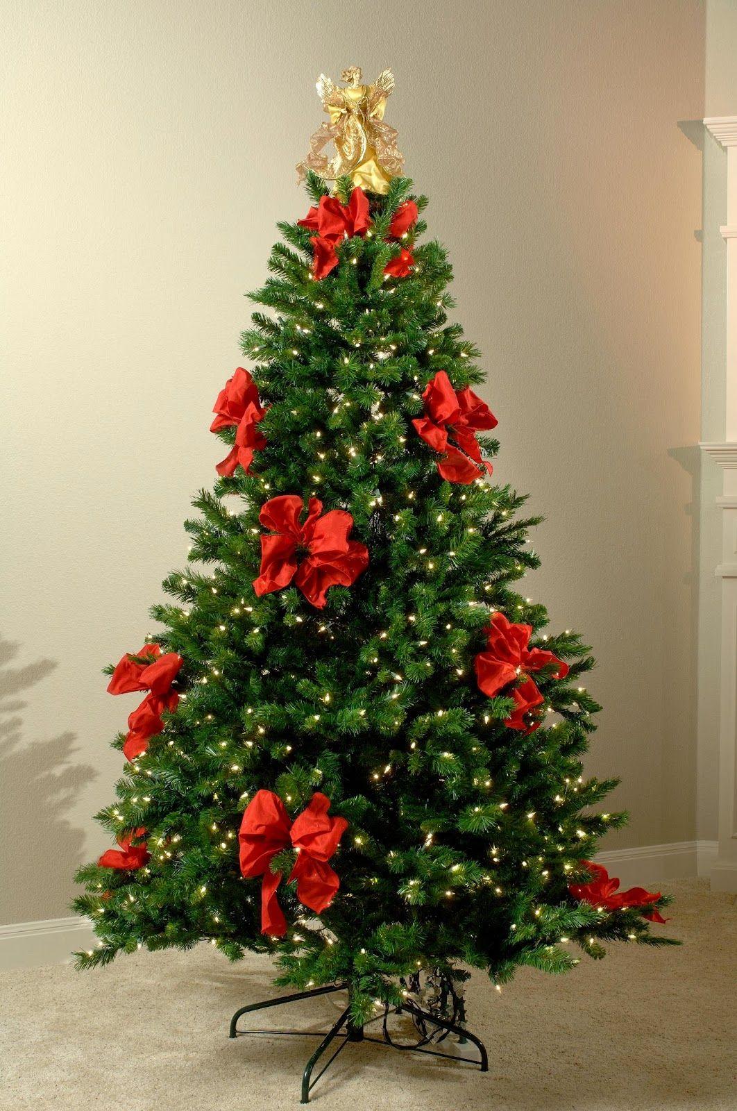 muyamenocom arboles de navidad decorados con cintas