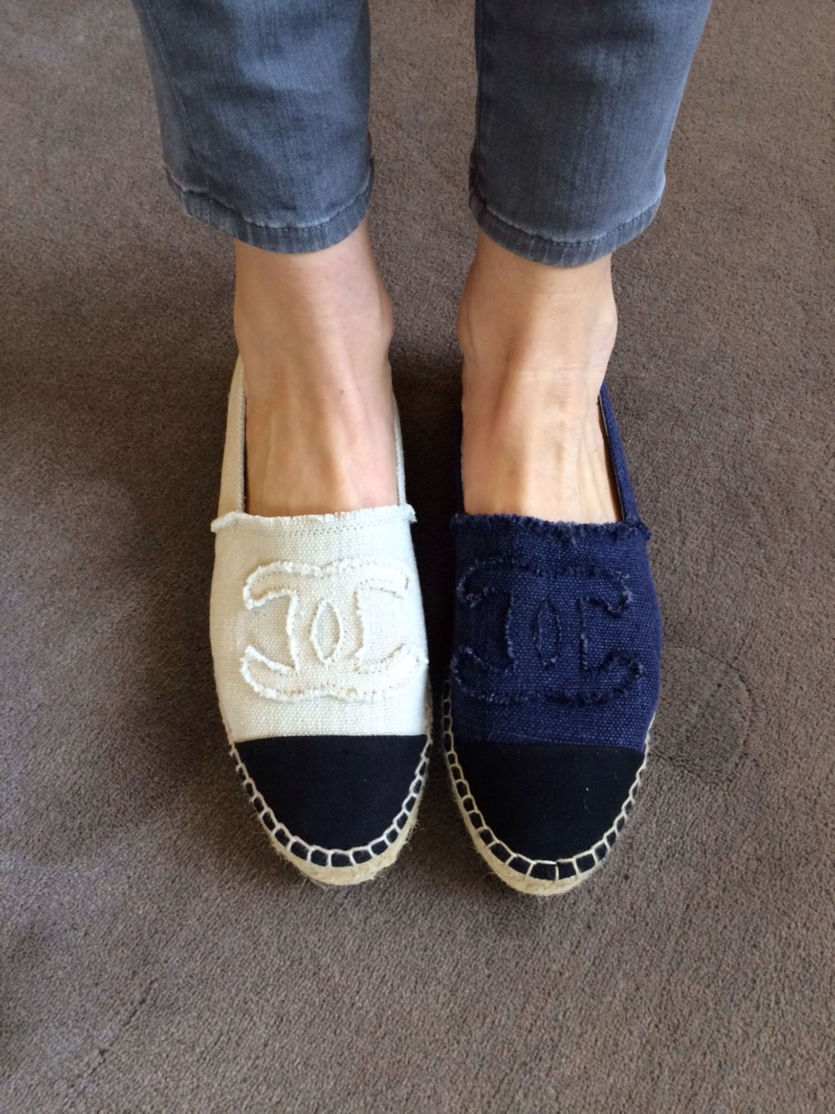 54aab45ad95626 Denim Espadrille from  CHANEL