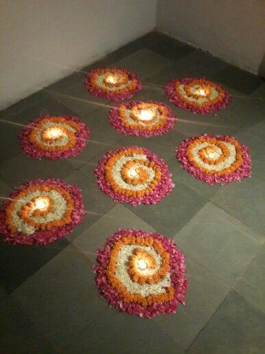 Flower Rangoli Design Diwali Decorations Rangoli Designs Flower Diy Diwali Decorations