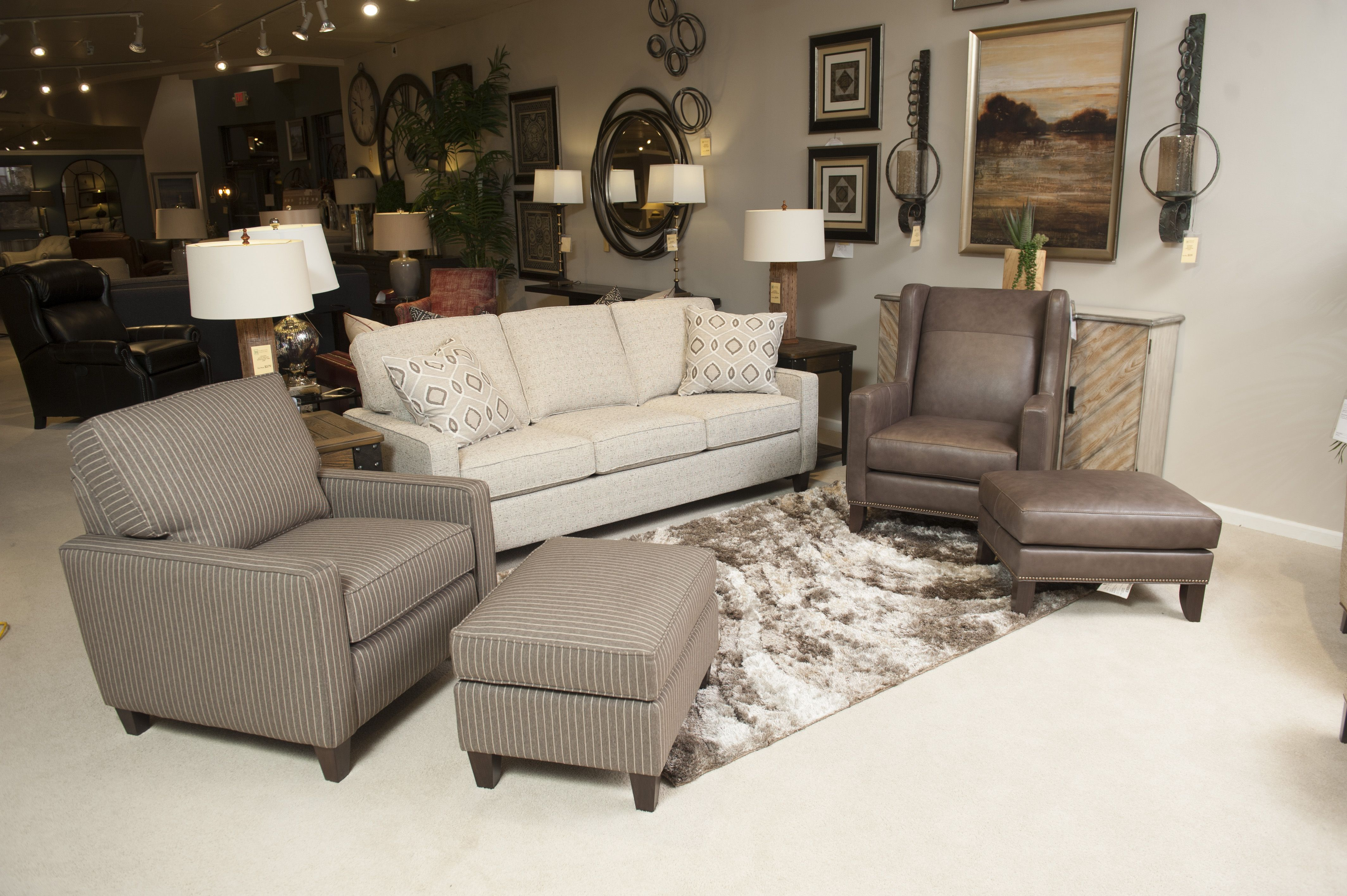 Smith Brothers Of Berne 242 Sofa Chair And Ottoman 538