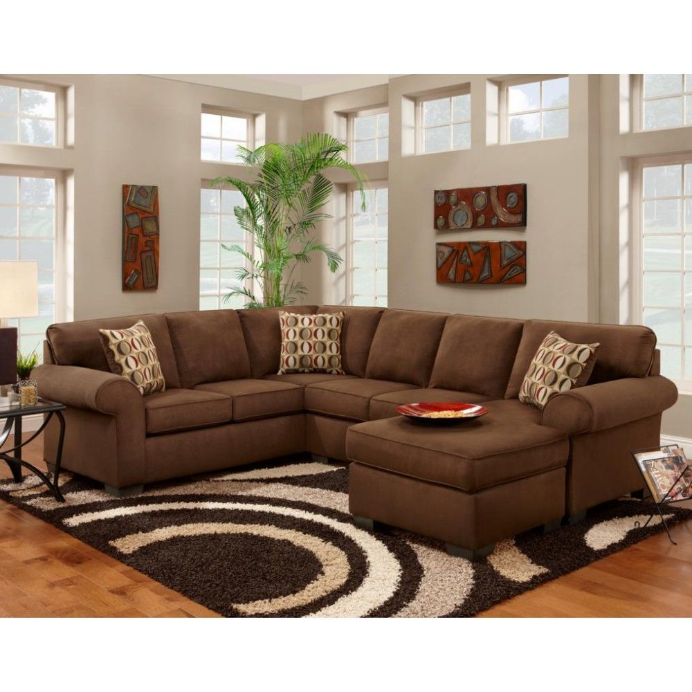 Chelsea Home Furniture Adams 2 Piece Sectional Patriot Chocolate