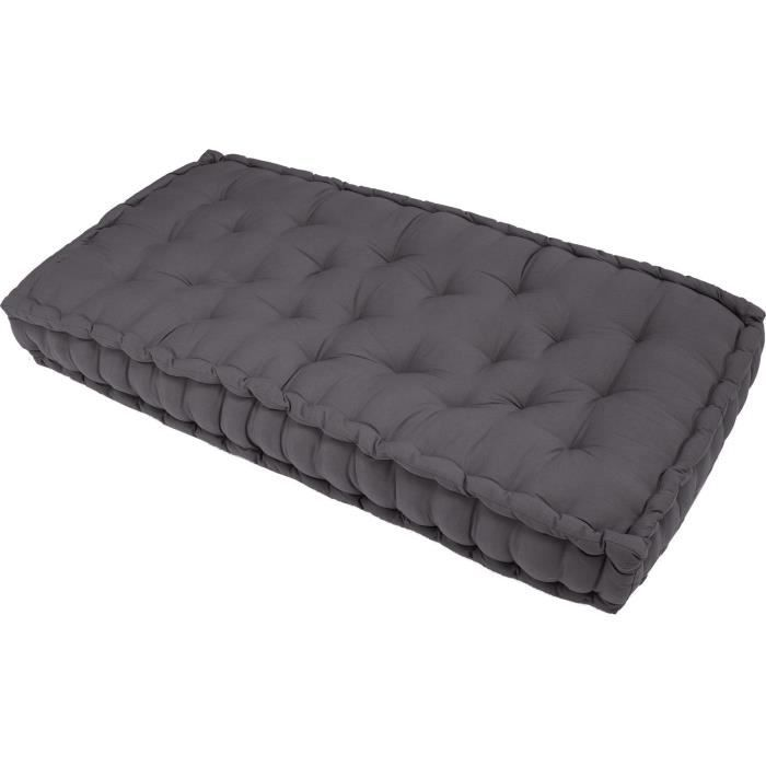 beautiful coussin matelas de sol banquette serge gris xx. Black Bedroom Furniture Sets. Home Design Ideas