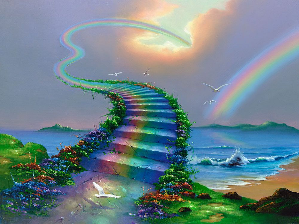 Fine Art - JimWarrren.com | Rainbow bridge, Over the rainbow, Stairway to heaven