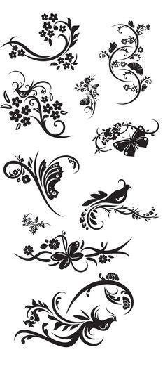 KLDezign les SVG: D\'autres ornements | Stencils - Piping templates ...