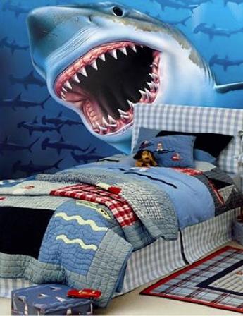 Giant Hungry Shark Wall Mural