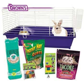 Home Sweet Home Rabbit Kit Fm Brown 28x17x15.5""""