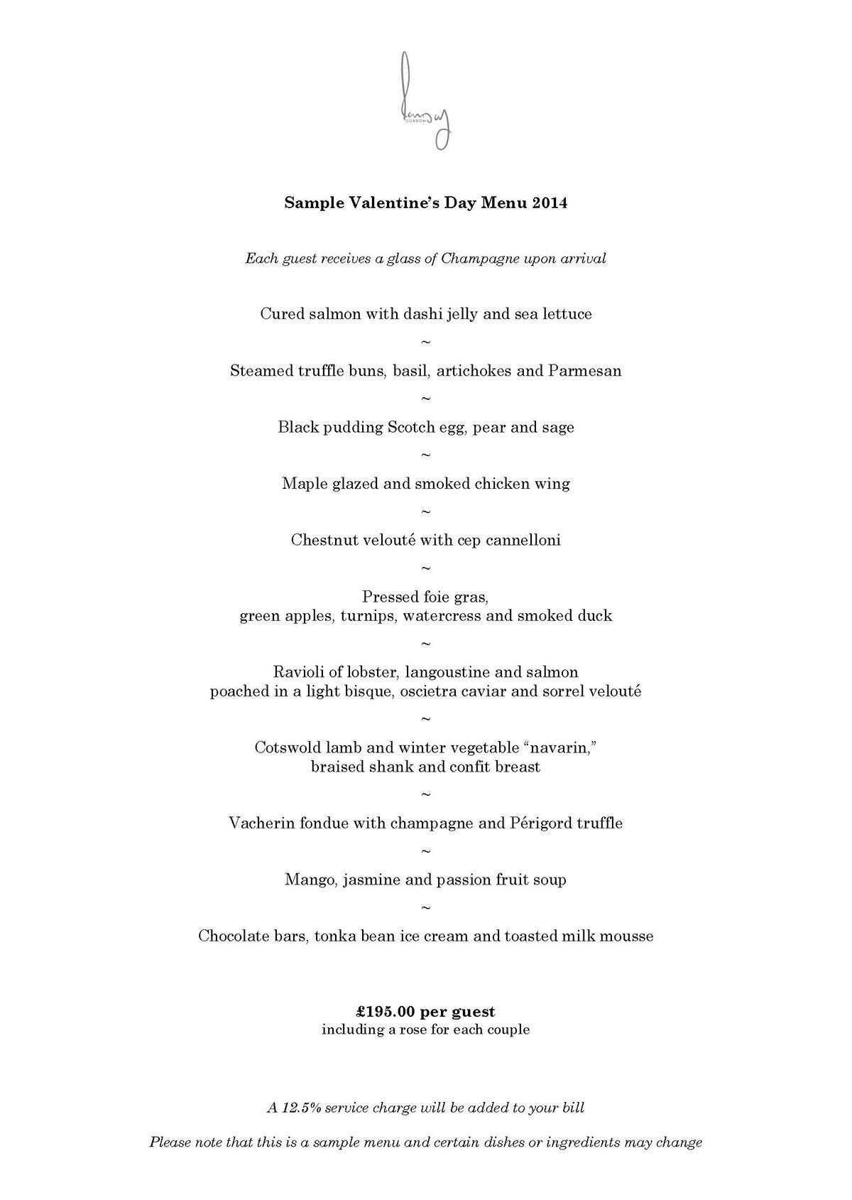 gordon mueller mueller ramsay valentine s day menu 2014 london
