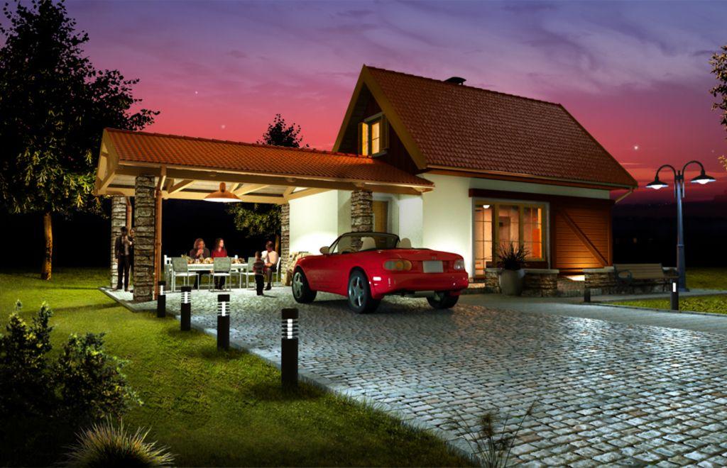 Hr jacek wersja b z wiat na 2 auta paliwo sta e ce dom for Stili di arredamento interni