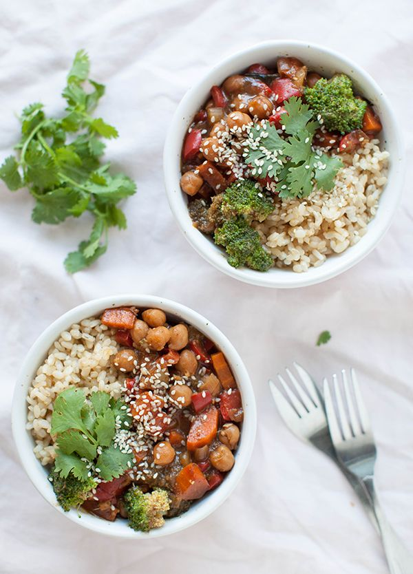Vegan Panda Express Teriyaki Chickpeas