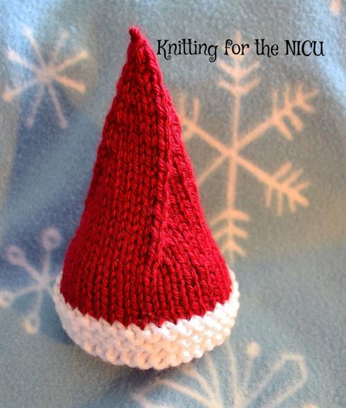 Free Pattern: Elf on the Shelf Micro-Preemie Christmas Hat   Elf on ...