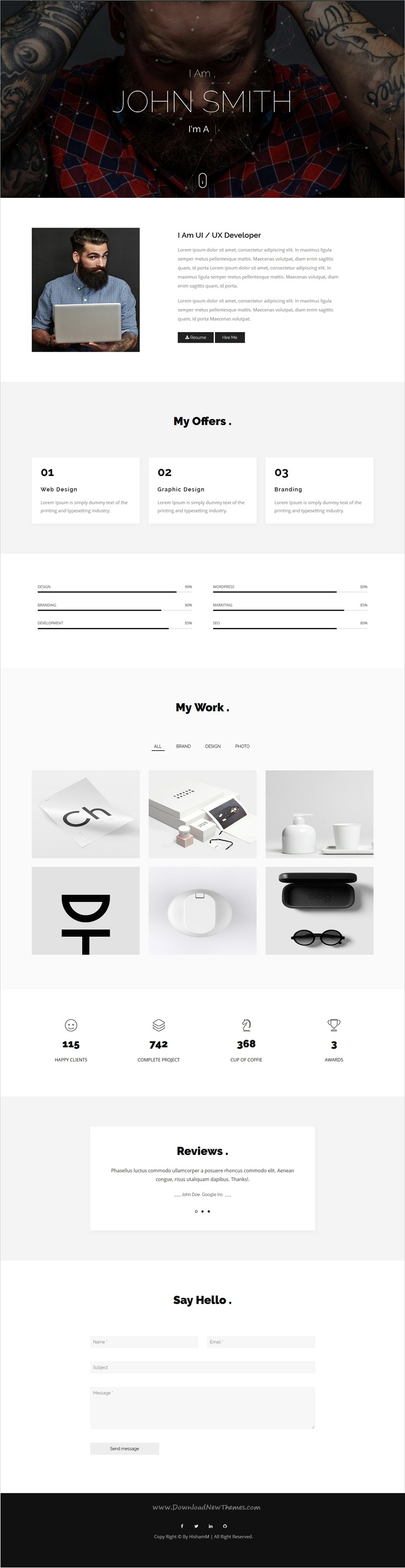 Django is clean and modern design responsive #HTML template for ...
