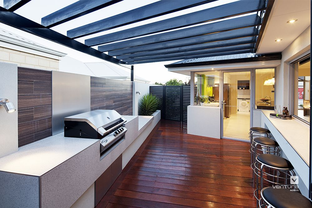 Alfrresco patio backyard design the spectrum display home for Display home kitchen gallery